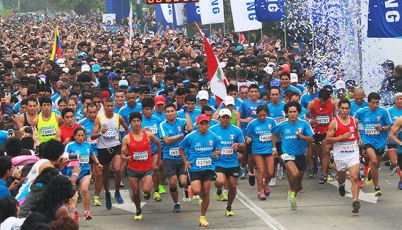 Huancainos Pacheco y Romero ganaron la carrera del Día Olímpico