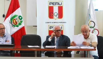 Comisión Técnica del Comité Olímpico Peruano (COP) entrego Reglamento de Viaje