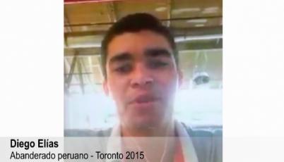Las palabras del abanderado a Toronto 2015, Diego Elías