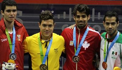 Diego Elías conquistó la primera presea de plata para el Team Perú