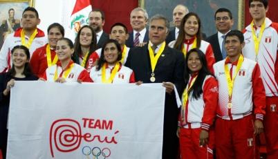 Team Perú es condecorado por la Municipalidad de Lima