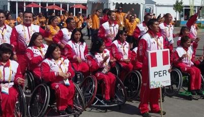 Emotivo acto de  izamiento de bandera del Team Perú en Parapanamericanos 2015
