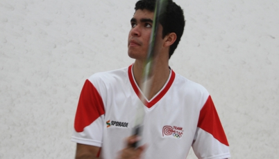Squashista Diego Elías ingresó al cuadro principal del Open Cartagena 2016