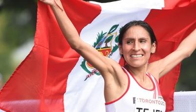 Gladys Tejeda impone récord sudamericano en Mundial de Media Maratón