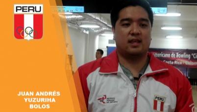 Para Juan Andrés Yuzuriha, de bolos, ganar la corona sudamericana fue todo un éxito